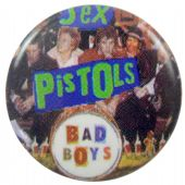 Sex Pistols - 'Bad Boys Collage' Button Badge